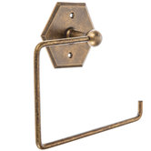 Antique Bronze Hexagon Metal Toilet Paper Holder